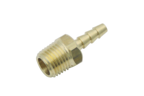 S32 PW1 Brass Male BSPP Pipe Fittings x Barbed Hose Tail BSP Connector  Coupler 1/4 Male BSP x 3/16 (5mm) I D Hose