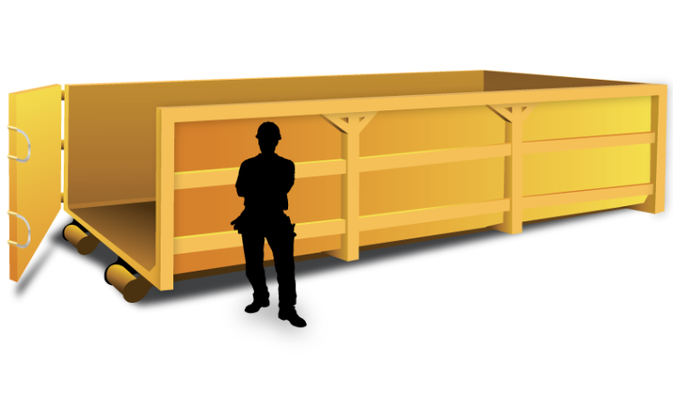 hire bin walk in 23 cubic meter hooklift 10 3b23. Black Bedroom Furniture Sets. Home Design Ideas